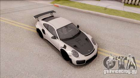 Porsche 911 GT2 RS 2017 EU Plate для GTA San Andreas вид справа