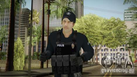 Turkish Riot Police Officer - Long Sleeves для GTA San Andreas