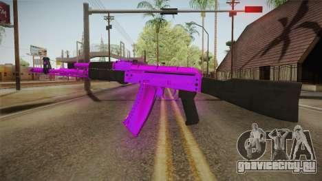 Purple AK47 для GTA San Andreas второй скриншот