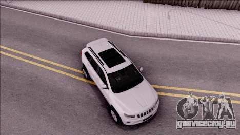 Jeep Grand Cherokee 2017 для GTA San Andreas вид справа