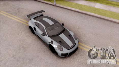 Porsche 911 GT2 RS Weissach Package EU Plate для GTA San Andreas вид справа