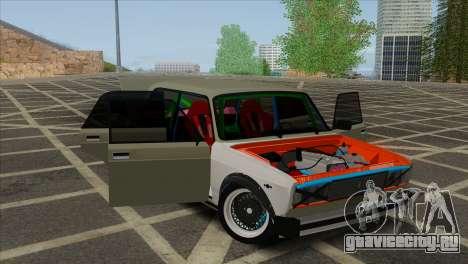 ВАЗ 2105 Customs Боевая Классика для GTA San Andreas вид изнутри