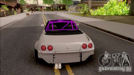 Nissan Skyline R33 Cabrio Drift Rocket Bunny для GTA San Andreas вид сзади слева