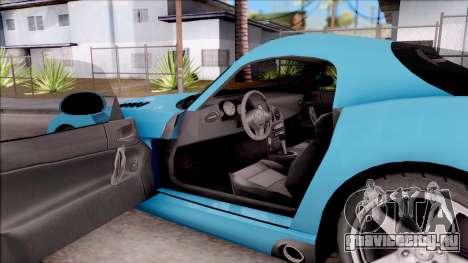 Dodge Viper SRT-10 для GTA San Andreas вид изнутри