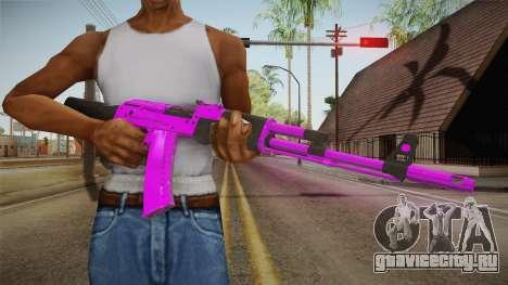 Purple AK47 для GTA San Andreas третий скриншот