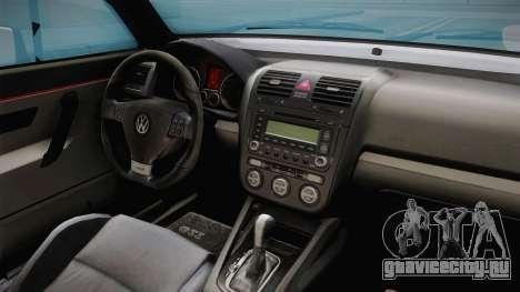 Volkswagen Golf MK2 2.0 TFSI Beta для GTA San Andreas вид изнутри