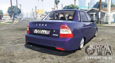 LADA Priora (2170) [replace] для GTA 5 вид сзади слева