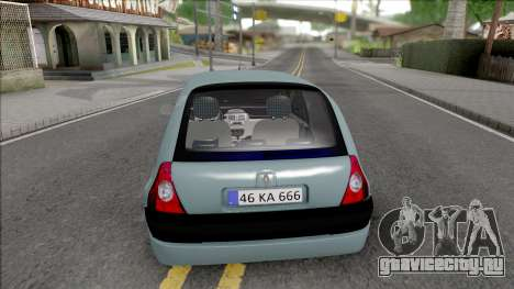 Renault Clio SFD для GTA San Andreas вид сзади слева