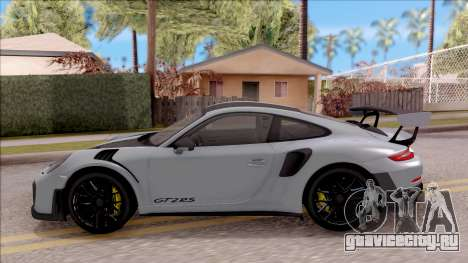 Porsche 911 GT2 RS Weissach Package EU Plate для GTA San Andreas вид слева