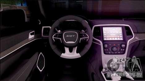 Jeep Grand Cherokee 2017 для GTA San Andreas вид изнутри
