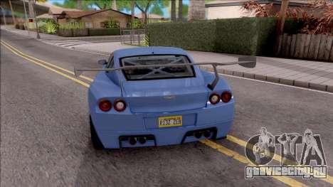 Dewbauchee Super GT LT для GTA San Andreas вид сзади слева