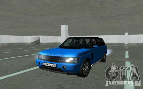 Land Rover Vogue для GTA San Andreas вид сзади