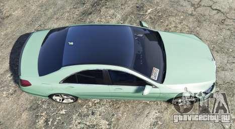 Mercedes-Benz S63 yellow brake caliper [add-on] для GTA 5 вид сзади