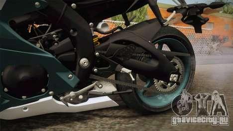 Yamaha R6 2017 для GTA San Andreas вид изнутри
