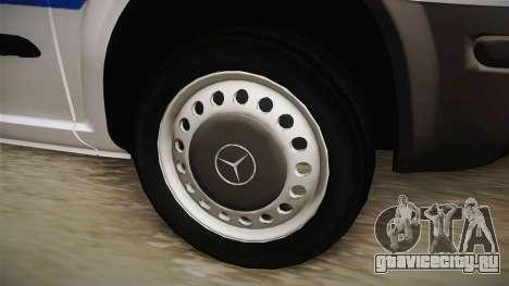 Mercedes-Benz Vito Algerian Police для GTA San Andreas вид сзади