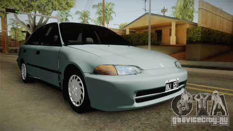 Honda Civic 1.5 LX 1995 для GTA San Andreas вид справа