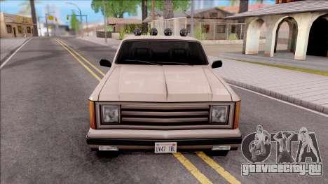 Rancher Hunter для GTA San Andreas вид изнутри