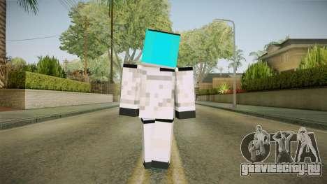 Minecraft Miku Skin для GTA San Andreas третий скриншот