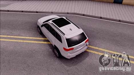 Jeep Grand Cherokee 2017 для GTA San Andreas вид сзади