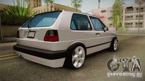 Volkswagen Golf MK2 2.0 TFSI Beta для GTA San Andreas вид справа