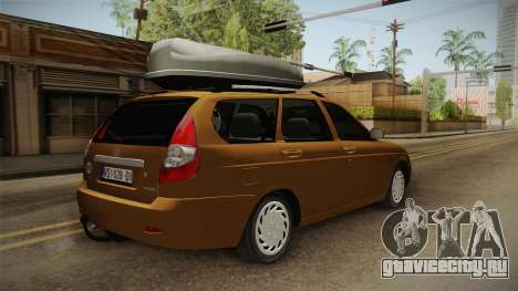 Lada Priora SW Sommerzeit для GTA San Andreas вид сзади слева