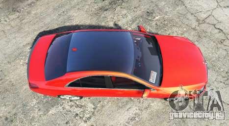 Mercedes-Benz S63 red brake caliper [add-on] для GTA 5 вид сзади