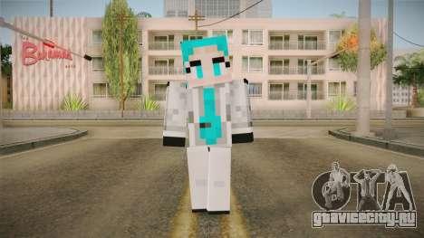 Minecraft Miku Skin для GTA San Andreas второй скриншот