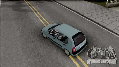 Renault Clio SFD для GTA San Andreas вид сзади