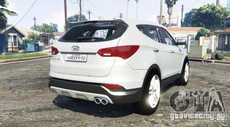 Hyundai Santa Fe (DM) 2013 [replace] для GTA 5 вид сзади слева