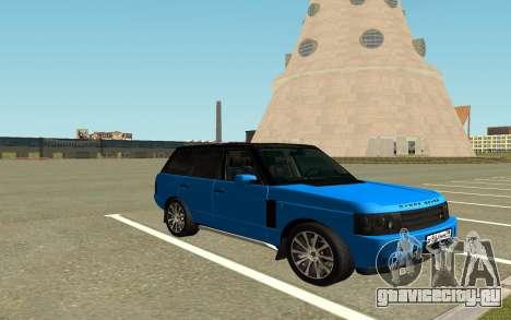 Land Rover Vogue для GTA San Andreas вид справа