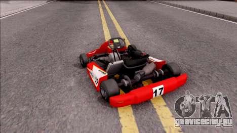 Shifter Kart 125cc для GTA San Andreas вид слева