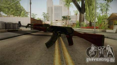 CS: GO AK-47 Jaguar Skin для GTA San Andreas второй скриншот