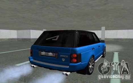 Land Rover Vogue для GTA San Andreas вид изнутри