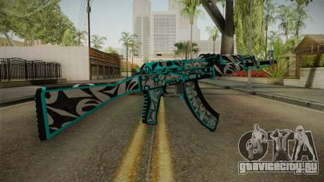 CS: GO AK-47 Frontside Misty Skin для GTA San Andreas второй скриншот