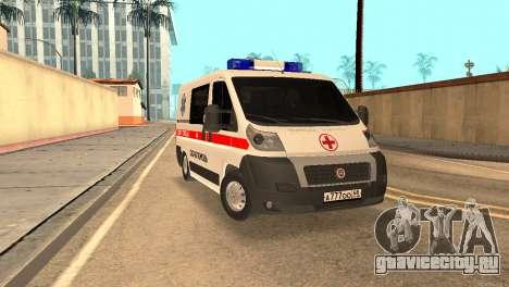Fiat Ducato Ambulance для GTA San Andreas