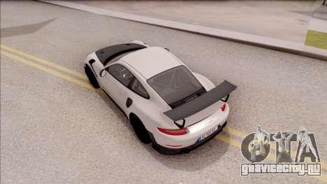 Porsche 911 GT2 RS 2017 EU Plate для GTA San Andreas вид сзади