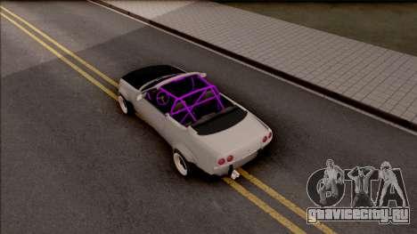 Nissan Skyline R33 Cabrio Drift Rocket Bunny для GTA San Andreas вид сзади