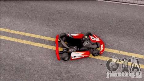 Shifter Kart 125cc для GTA San Andreas вид сзади слева