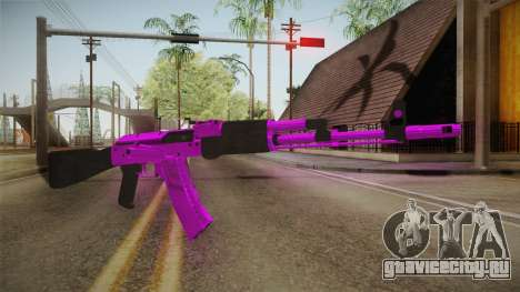 Purple AK47 для GTA San Andreas