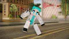 Minecraft Miku Skin для GTA San Andreas
