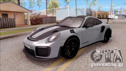 Porsche 911 GT2 RS Weissach Package EU Plate для GTA San Andreas