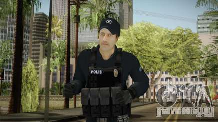 Turkish Riot Police Officer - Long Sleeves для GTA San Andreas