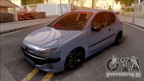 Peugeot 206 FR для GTA San Andreas