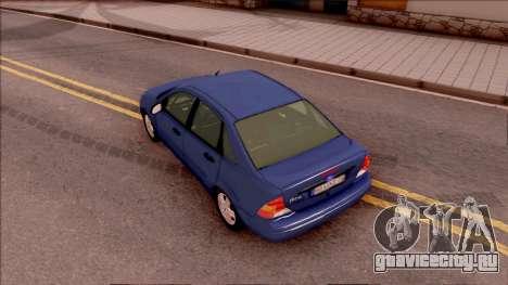 Ford Focus Sedan 2000 для GTA San Andreas вид сзади
