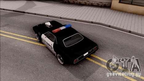 Plymouth Hemi Cuda 426 Police LVPD 1971 v2 для GTA San Andreas вид сзади
