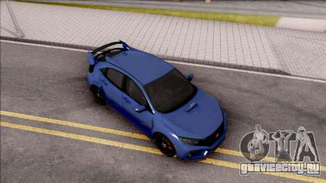 Honda Civic Type-R 2017 для GTA San Andreas вид справа