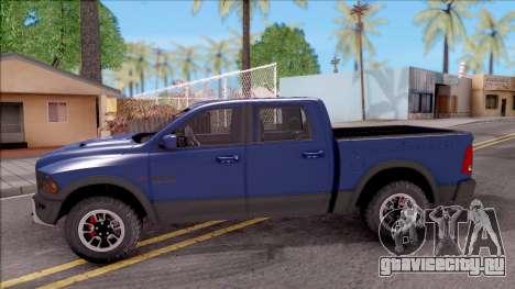 Dodge Ram Rebel 2017 для GTA San Andreas вид слева