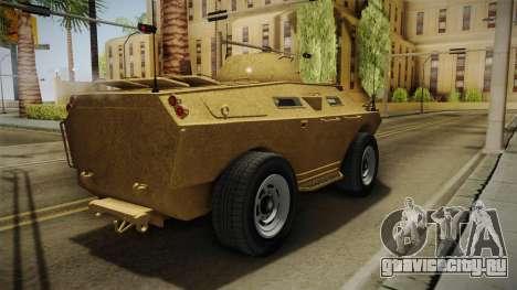 GTA 5 HVY APC для GTA San Andreas вид сзади слева