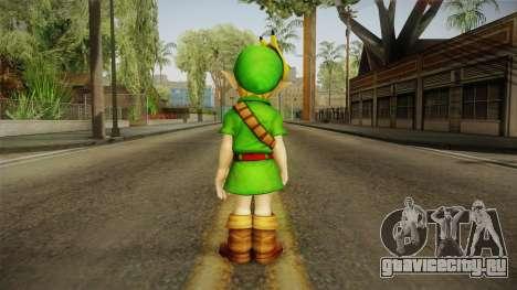 Hyrule Warriors - Young Link Skin для GTA San Andreas третий скриншот