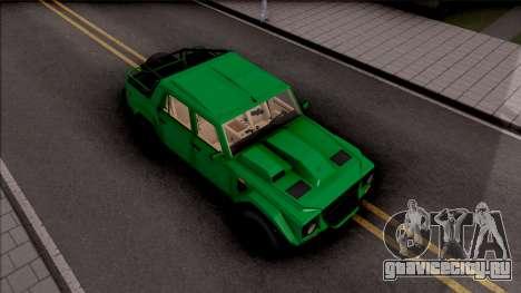 Lamborghini LM002 1986 для GTA San Andreas вид справа